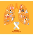 World Asthma Day Icons Set vector image vector image