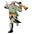 World War Two Soviet Soldier vector image vector image