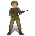 A brave military soldier vector image vector image