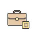bag briefcase business cancel portfolio vector image vector image
