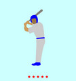 ballplayer set it is color icon vector image vector image