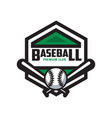 baseball premium club logo template design vector image