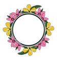 beautiful tropical flowers design vector image