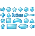 Blue Glass Buttons Set vector image vector image