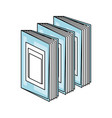 books and education symbol vector image