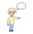 cartoon man with popping out eyes with thought vector image vector image
