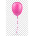 celebratory pink transparent balloon pumped vector image vector image