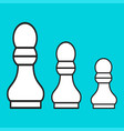 chess figure a pawn on a blue background vector image vector image