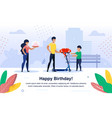 child happy birthday celebration banner vector image