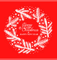 christmas card with fir branches stars and vector image vector image