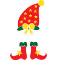 christmas elf red hat elf isolated vector image vector image