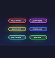 Colorful neon buttons for websites