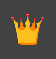 crown isolated on black background vector image vector image