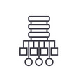 database network line icon vector image