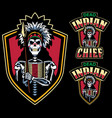 dead indian chief mascot vector image vector image