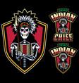 Dead indian chief mascot