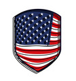 emblem of flag united states of america colorful vector image vector image