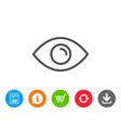 eye line icon look or optical vision sign vector image vector image