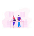 family prepare food at home young loving couple vector image vector image
