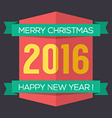 Flat Design 2016 New Year Badge vector image