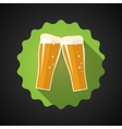 glass beer flat long shadow icon vector image