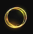 gold circle light effect with round glowing vector image vector image