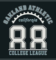 graphic oakland athletic california vector image vector image