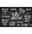 halloween lettering set on blackboard background vector image vector image