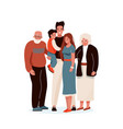 happy family father mother vector image