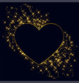 hearts made with golden sparkles background vector image vector image