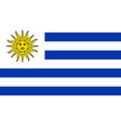 image of uruguay flag vector image vector image