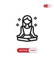 meditation icon vector image vector image