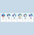 mobile app onboarding screens barbershop beauty vector image vector image
