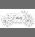 motor cycle outline vector image