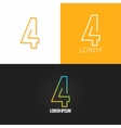 Number four 4 logo design icon set background vector image vector image