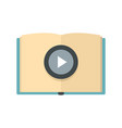 online book learning icon flat style vector image vector image