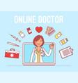 online doctor service vector image vector image