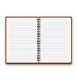 Open notebook vector image vector image