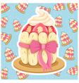 pattern cupcake vector image vector image