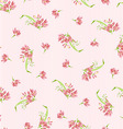 pattern with pink little flowers vector image