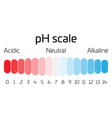 ph scale indicator of ph value expressing rate of vector image