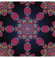 Pink and blue ornate seamless with paisley vector image vector image