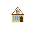 pixel house for games icon vector image vector image