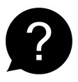 question icon on white background question sign vector image
