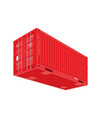red shipping cargo container for logistics and vector image