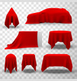 red silk fabric cover set elegant surprise for vector image vector image