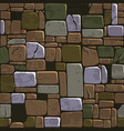 seamless background texture old color stone wall vector image vector image