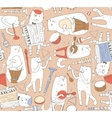Seamless pattern with musician cats and music vector image vector image