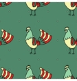 seamless pattern with rooster vector image vector image