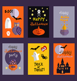 Set of halloween cards3 vector image vector image